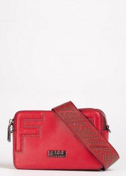 Красная сумка Ferre с двумя отделениями, фото