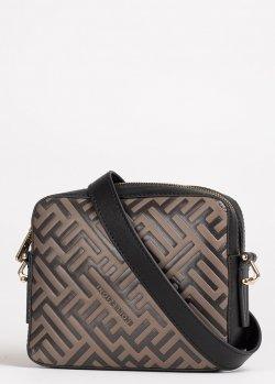 Коричневая сумка Ferre на съемном ремне, фото
