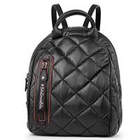 Стеганый рюкзак Tosca Blu черного цвета, фото