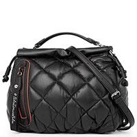 Стеганая сумка Tosca Blu в черном цвете, фото
