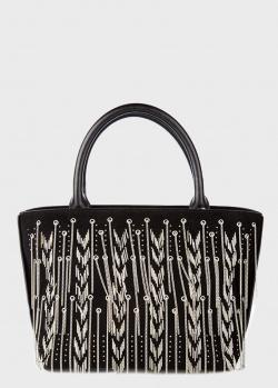 Черная сумка-тоут Cromia Miss Chain с декором-цепочками, фото