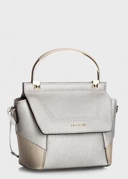 Сумка-портфель Cromia Marina из серебристой кожи, фото