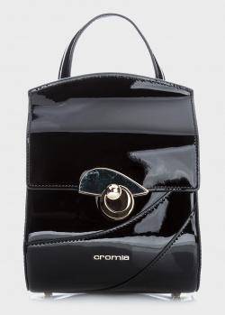 Черный рюкзак Cromia Koa из лаковой кожи, фото