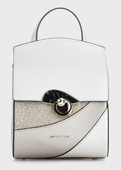 Белый рюкзак Cromia Caribe с золотистыми вставками, фото