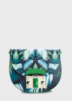 Сумка-седло Cromia Tropic с тропическим рисунком, фото