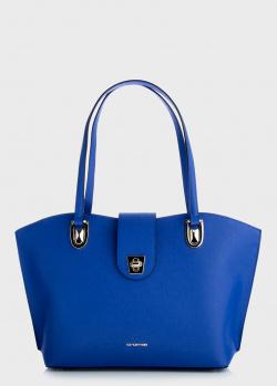 Сумка-тоут Cromia Mina синего цвета, фото