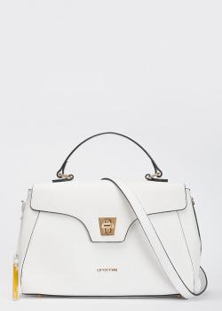Белая сумка Cromia Mina с мелким тиснением на коже, фото