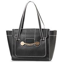 Черная сумка Baldinini Zelda из мелкозернистой кожи, фото