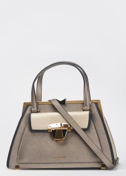 Серебристая сумка Cromia Abby с тиснением сафьяно, фото