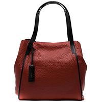 Красная сумка Ripani Maya из крупнозернистой кожи, фото