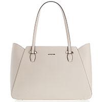 Бежевая сумка Cromia Perla с тиснением сафьяно, фото