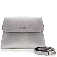 Серебристая сумка Cromia Perla из кожи сафьяно, фото