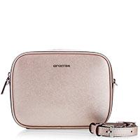 Розовая сумка Cromia Perla из кожи с тиснением сафьяно, фото