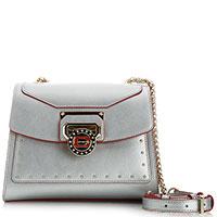 Серебристая сумка Cromia Nubia на цепочке, фото