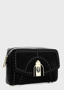 Черная сумка Cromia Olimpya с заклепками, фото