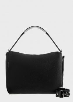 Черная сумка Mandarina Duck Mellow из зернистой кожи, фото