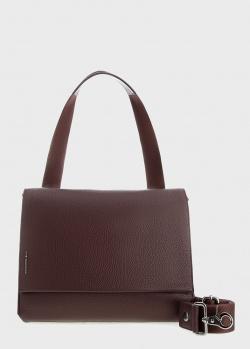 Коричневая сумка Mandarina Duck Mellow на текстильном ремне, фото