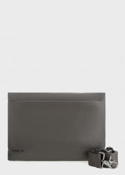 Сумка-конверт Mandarina Duck Mellow из серой кожи, фото