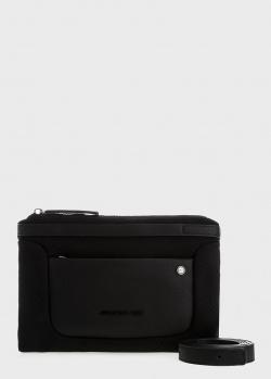 Черная сумка Mandarina Duck Camden с накладным карманом, фото