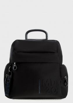 Черный рюкзак Mandarina Duck MD с фирменным тиснением, фото