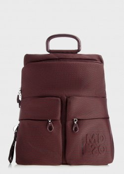 Бордовый рюкзак Mandarina Duck MD с накладными карманами, фото