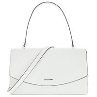 Белая сумка-багет Cromia Perla со съемным ремнем, фото