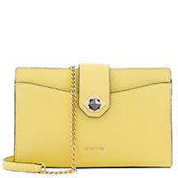 Желтая сумка Cromia Mina на цепочке, фото