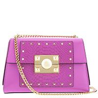Фиолетовая сумка Cromia Mystic на цепочке, фото