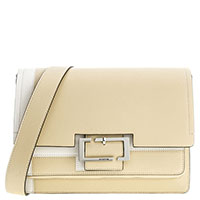 Бежевая сумка Cromia Blending с широким ремнем, фото
