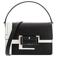 Маленькая сумка Cromia Blending черно-белого цвета, фото