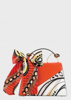 Разноцветная сумка Cromia Ergobando с декором-платком, фото