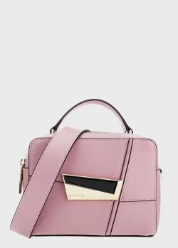 Розовая сумка Cromia Spectrum с золотистой фурнитурой, фото