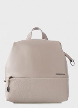 Женский рюкзак Mandarina Duck из бежевой кожи, фото