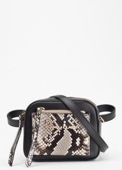 Поясная сумка Cavalli Class Susan с тиснением под рептилию, фото