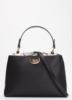Черная сумка Cavalli Class Everyday с брендовым декором, фото