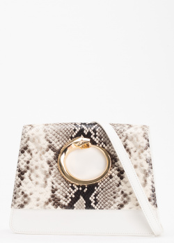 Белая сумка Cavalli Class Viper трапециевидной формы, фото