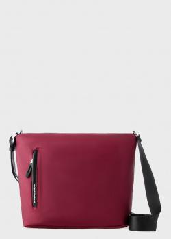 Бордовая сумка Mandarina Duck Hunter с прорезным карманом, фото