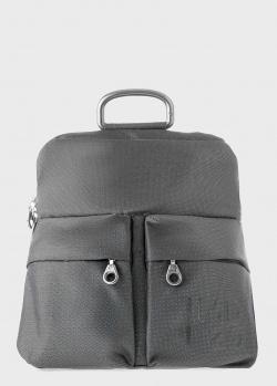 Серый рюкзак Mandarina Duck MD с карманами на молнии, фото