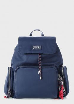 Синий рюкзак Mandarina Duck Style с лого на клапане, фото