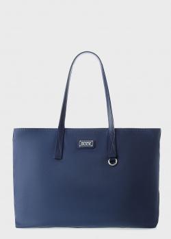 Синий шоппер Mandarina Duck Style с логотипом, фото
