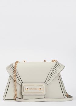 Белая сумка Cromia Diva с ремнем-цепочкой, фото