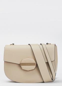 Бежевая сумка Cromia Bluebell с красной подкладкой, фото