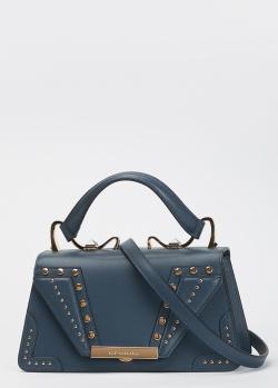 Синяя сумка Cromia Wonder с декором-заклепками, фото