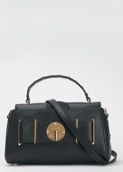 Черная сумка Cromia Oniric с плечевым ремнем, фото