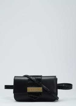 Черная сумка Baldinini Lea с логотипом, фото