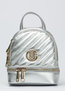 Серебристый рюкзак Baldinini Mila с логотипом , фото