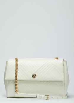Белая стеганая сумка Baldinini Keira из кожи, фото
