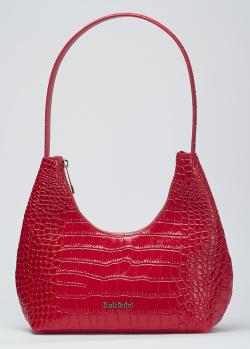 Красная сумка Baldinini Mary с тиснением под рептилию, фото