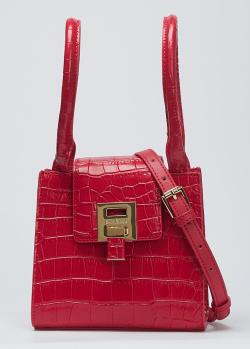 Красная сумка Baldinini Vivien с тиснением под рептилию, фото