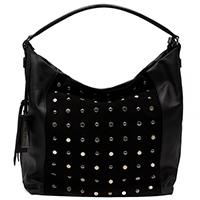 Черная сумка Ripani Senape с декором-заклепками, фото